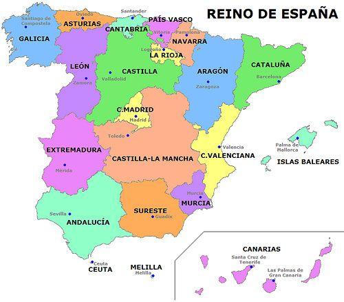 Carte communauts espagnoles
