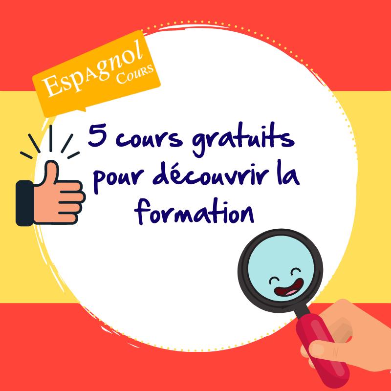 Testez 5 cours espagnol gratuits