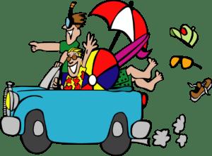 Image d'amis qui partent en vacances