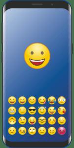 image de téléphone portable avec smiley heureux